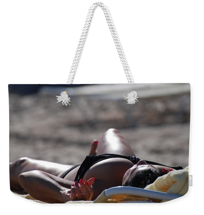 Sexy Weekender Tote Bag featuring the photograph Pink Nails by Rob Hans