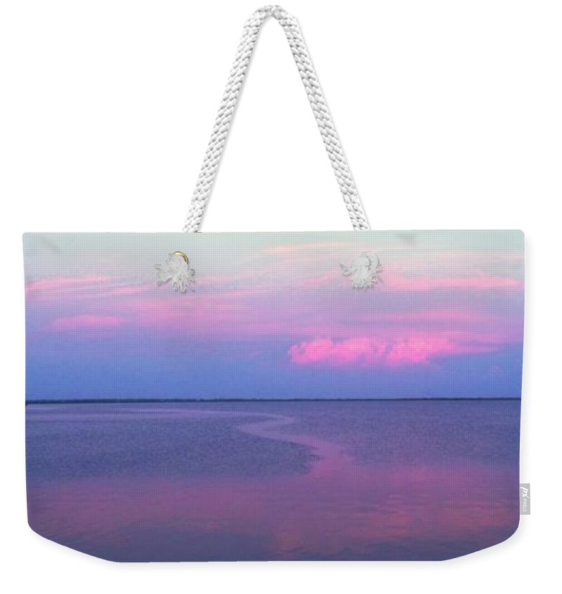 Sunset Weekender Tote Bag featuring the photograph Pink Path by Ian MacDonald