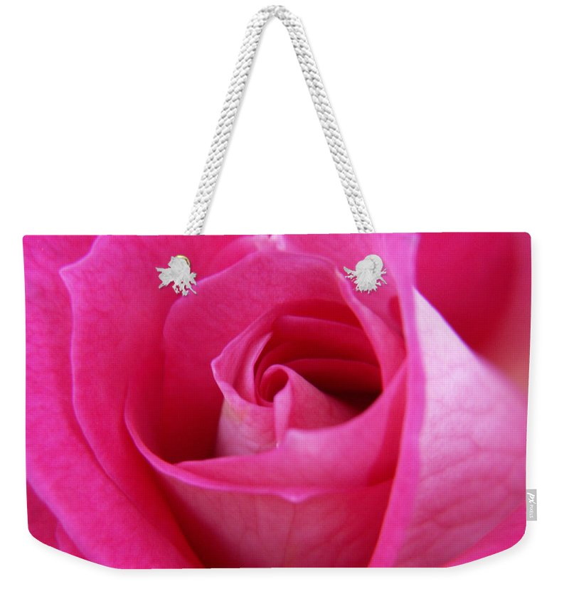 Rose Weekender Tote Bag featuring the photograph Pink Rose by Amy Fose