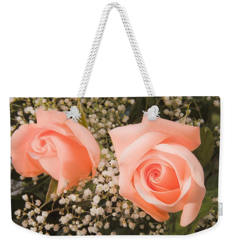Roses Weekender Tote Bag featuring the photograph Pink Roses Fine Art Photography Print by James BO Insogna