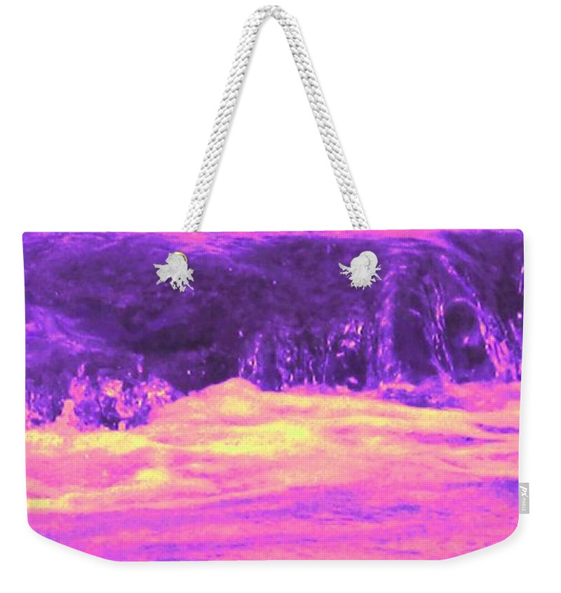 Seascape Weekender Tote Bag featuring the photograph Pink Tidal Pool by Ian MacDonald