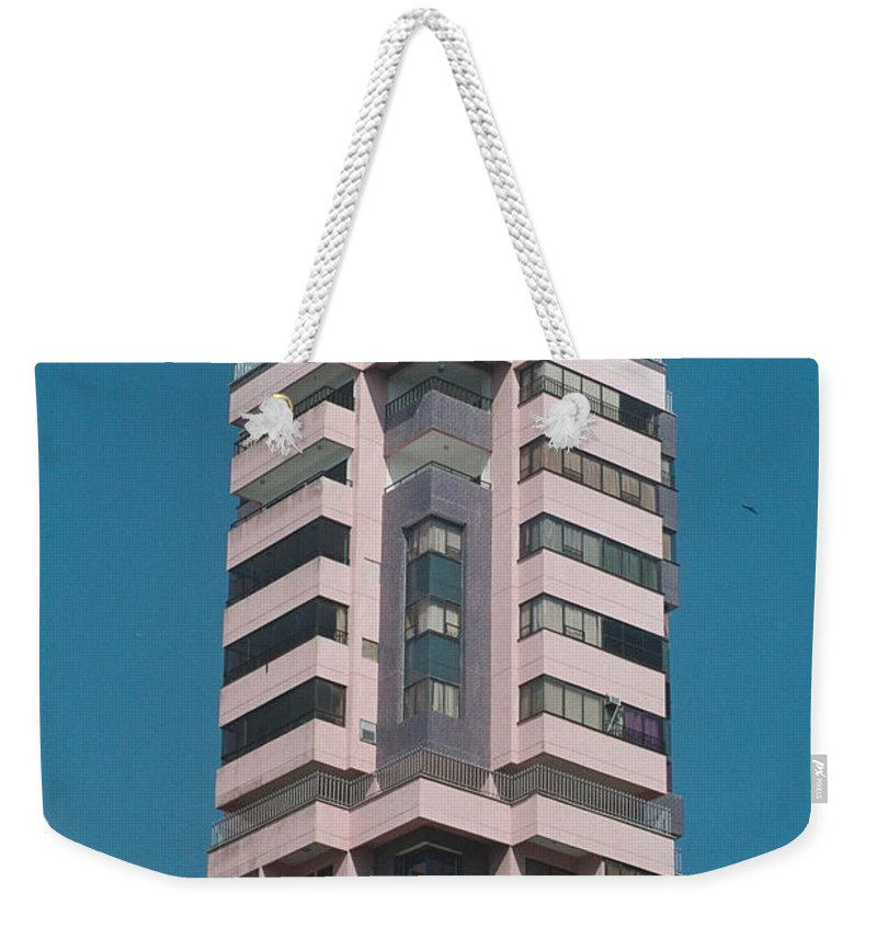 Girl Weekender Tote Bag featuring the photograph Pink Tower by David Cardona
