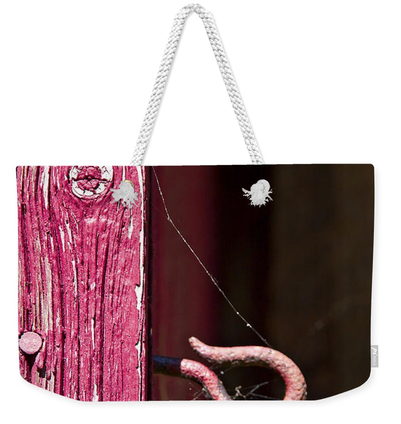 Pink Weekender Tote Bag featuring the photograph Pinked In by Evelina Kremsdorf
