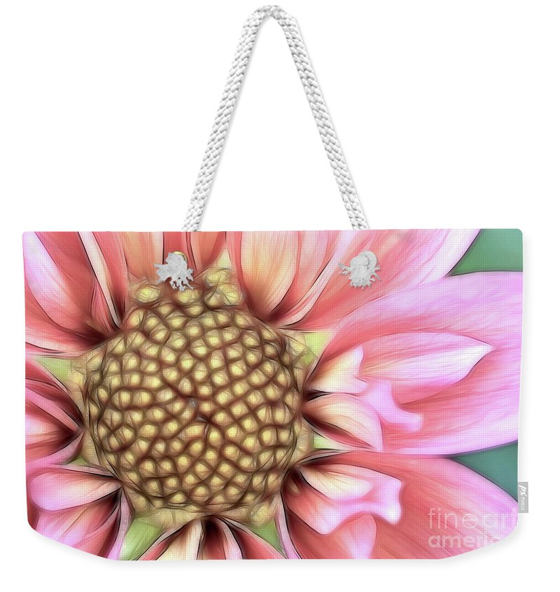 Dahlia Weekender Tote Bag featuring the photograph Pinkie by Beve Brown-Clark Photography