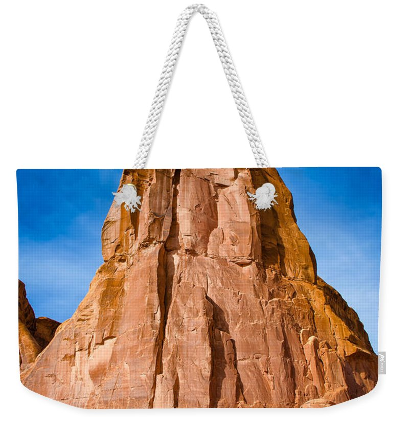 Adventure Weekender Tote Bag featuring the photograph Pinnacle by John M Bailey