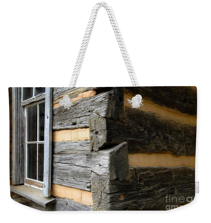 Cabin Weekender Tote Bag featuring the photograph Pioneer Craftsmanship by David Lee Thompson