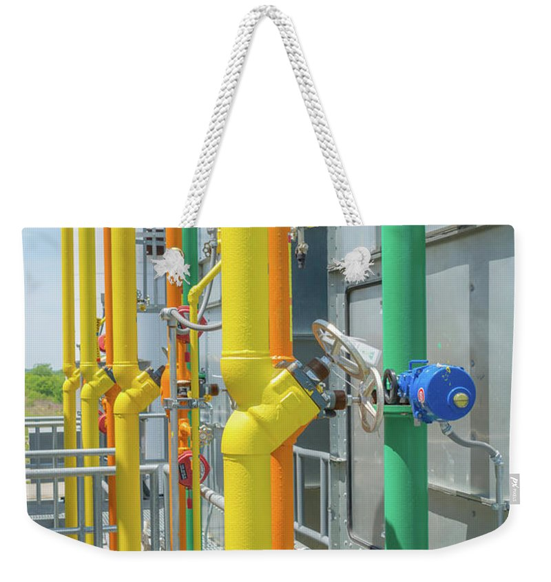 Plant Weekender Tote Bag featuring the photograph Pipe Dream by Pamela Williams
