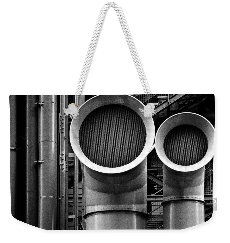Industry Weekender Tote Bag featuring the photograph Pipes by Dave Bowman