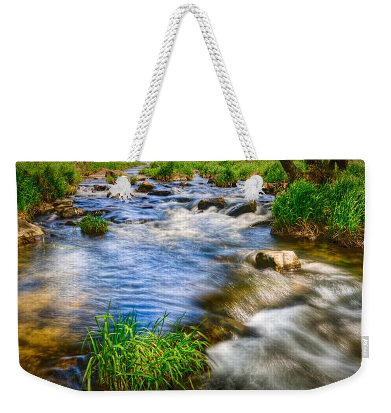 Flowing Weekender Tote Bag featuring the photograph Pipestone National Monument by Rikk Flohr