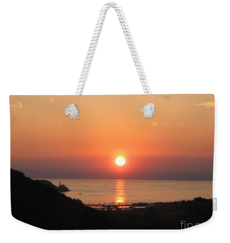 Sunset Sea Weekender Tote Bag featuring the photograph Piran's Sunset I by Dragica Micki Fortuna