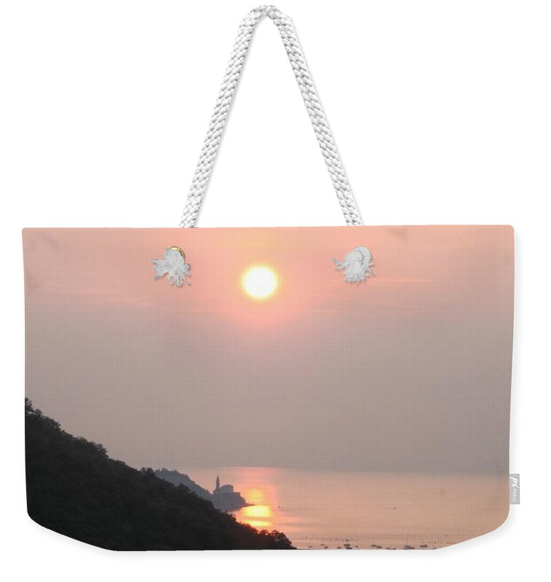 Sunset Weekender Tote Bag featuring the photograph Piran's Sunset II by Dragica Micki Fortuna
