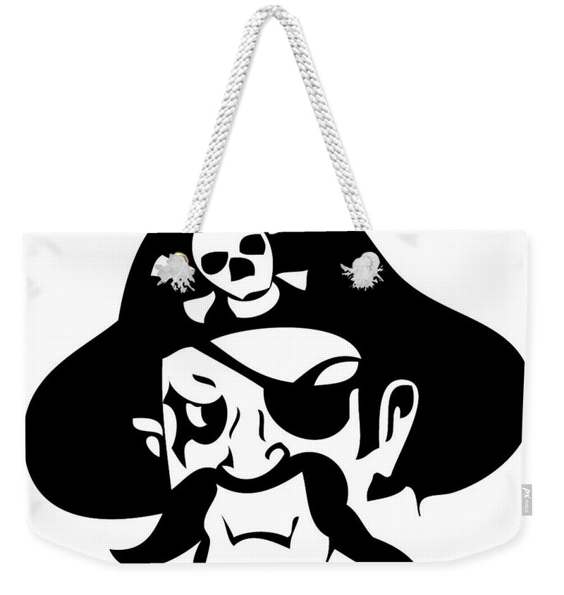 Pirate Weekender Tote Bag featuring the digital art Pirate by Frederick Holiday