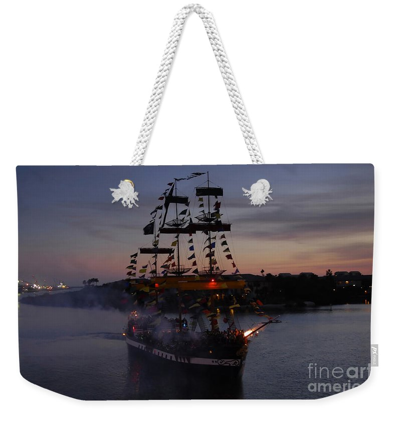 Pirates Weekender Tote Bag featuring the photograph Pirate Invasion by David Lee Thompson