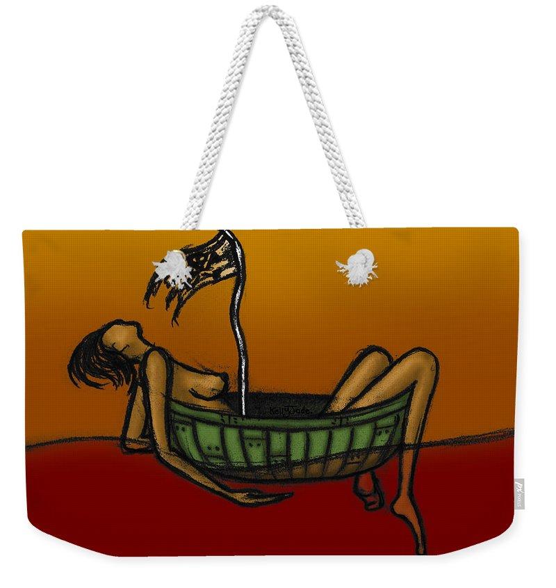 Pirate Weekender Tote Bag featuring the digital art Pirate by Kelly Jade King