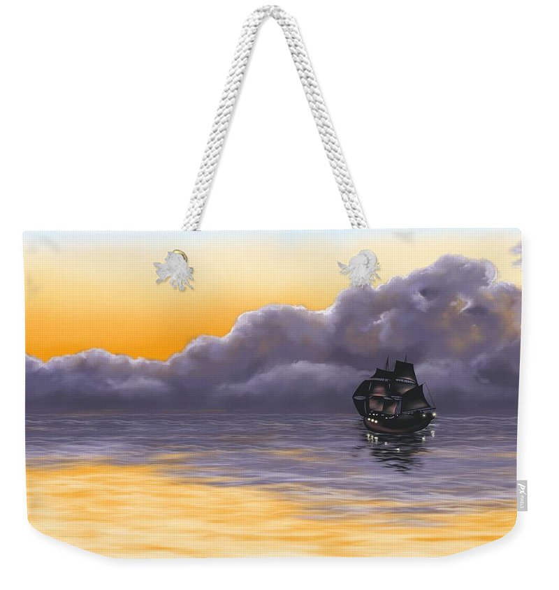Pirates Weekender Tote Bag featuring the painting Pirates by Veronica Minozzi