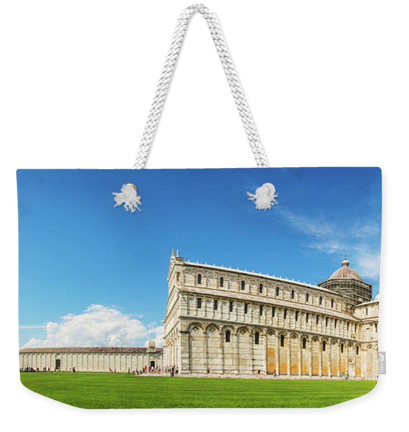Pisa Weekender Tote Bag featuring the photograph Pisa Panorama by Delphimages Photo Creations