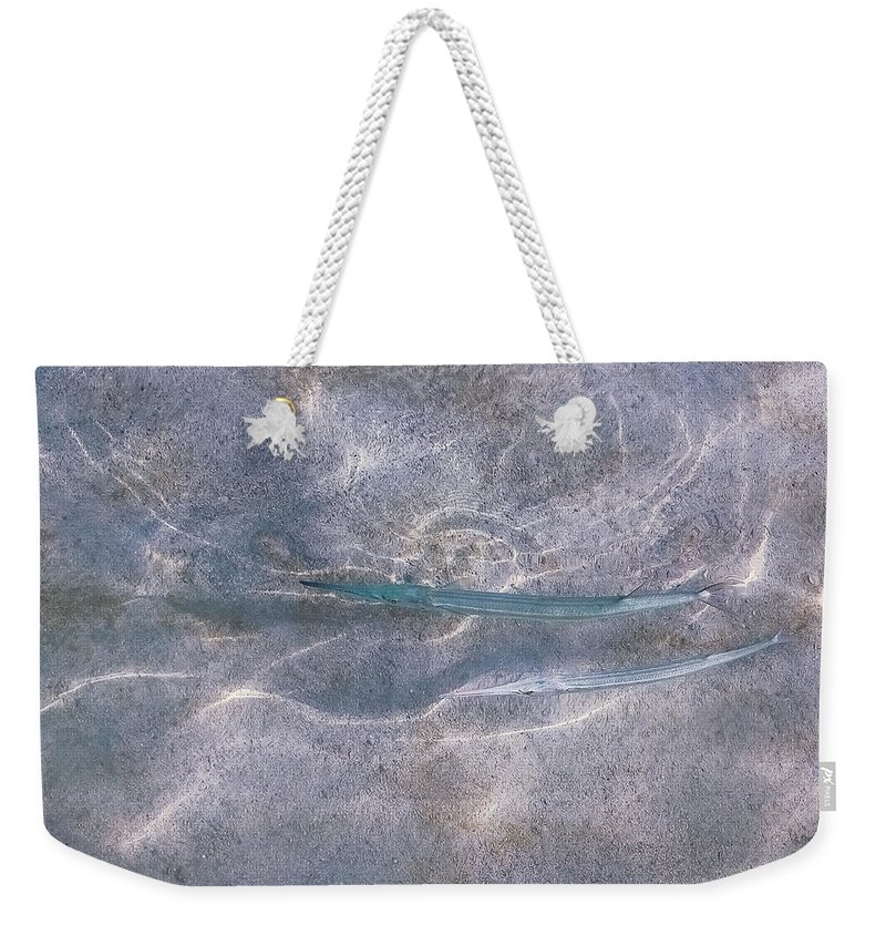 Pisces Weekender Tote Bag featuring the photograph Pisces, Girlfriends by Nat Air Craft