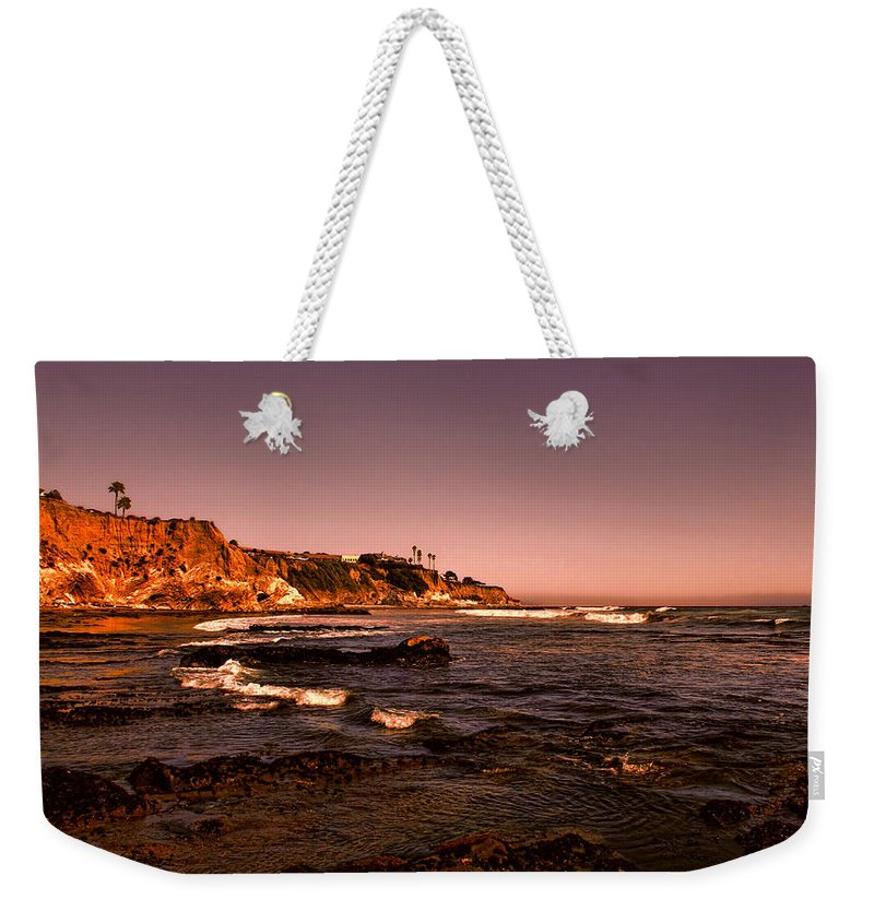 Pismo Beach Weekender Tote Bag featuring the photograph Pismo Beach Sunset by Judy Vincent