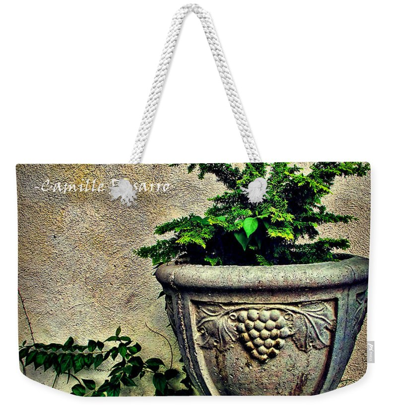 \blessed Are They Who See Beautiful Things In Humble Places Where Other People See Nothing.\ Weekender Tote Bag featuring the photograph Pissarro Inspirational Quote by Joan Minchak