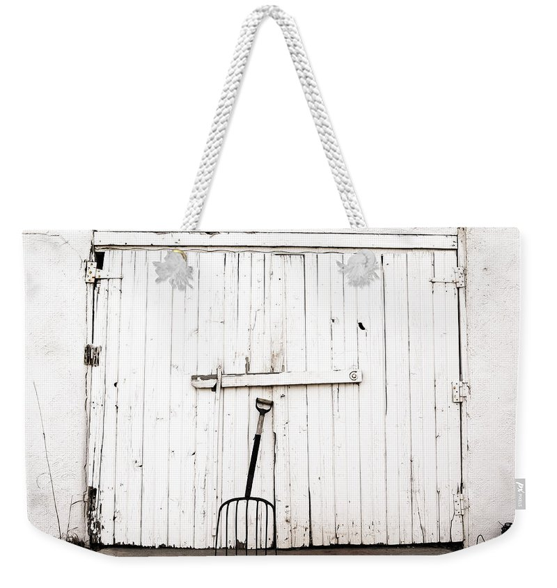Americana Weekender Tote Bag featuring the photograph Pitch Fork by Marilyn Hunt