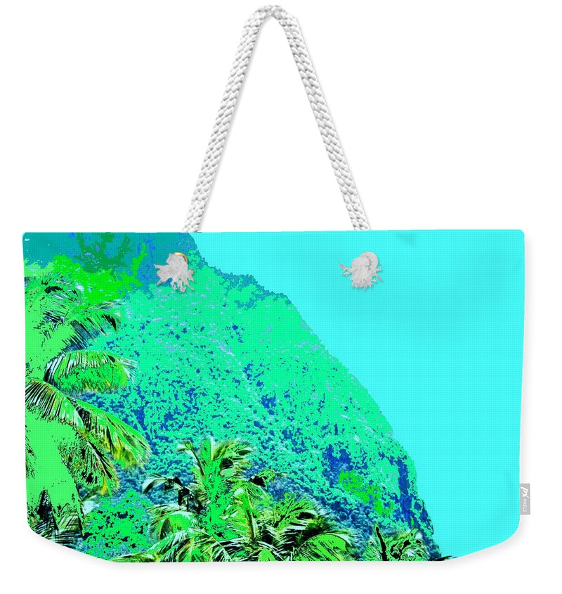 Pitons Weekender Tote Bag featuring the photograph Pitons by Ian MacDonald