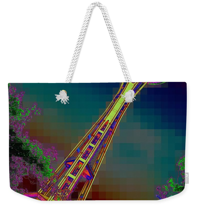 Seattle Weekender Tote Bag featuring the photograph Pixel Needle by Tim Allen