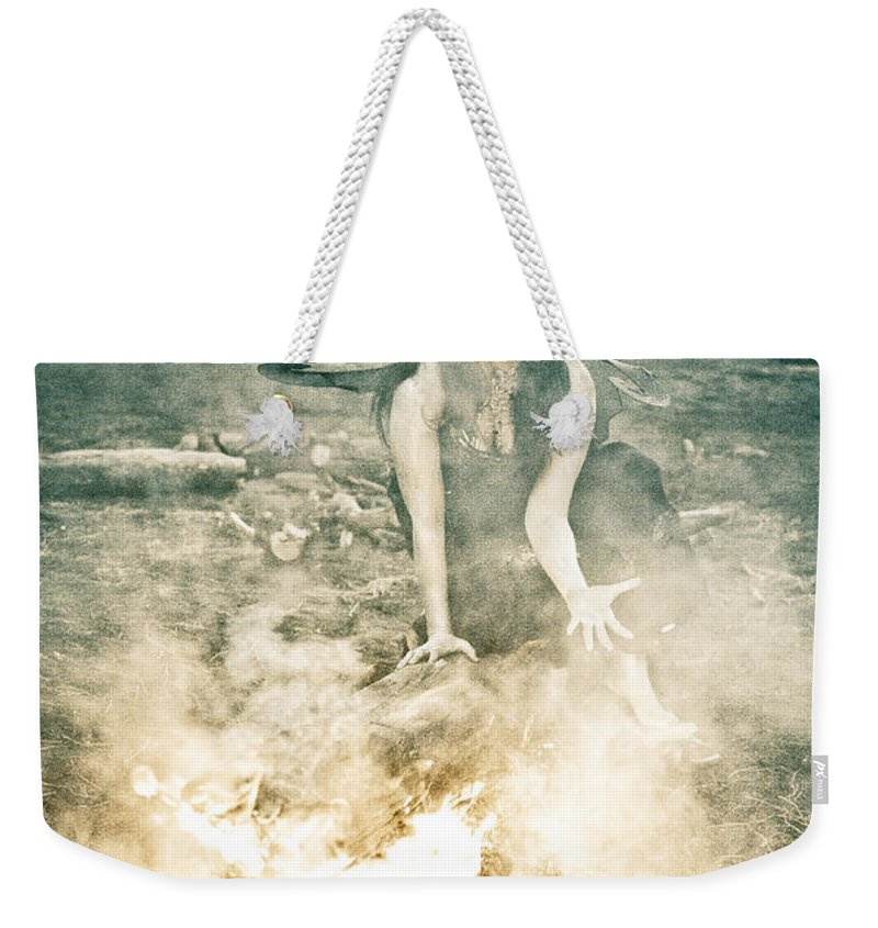 Pixie Weekender Tote Bag featuring the photograph Pixie Smoke by Scott Sawyer