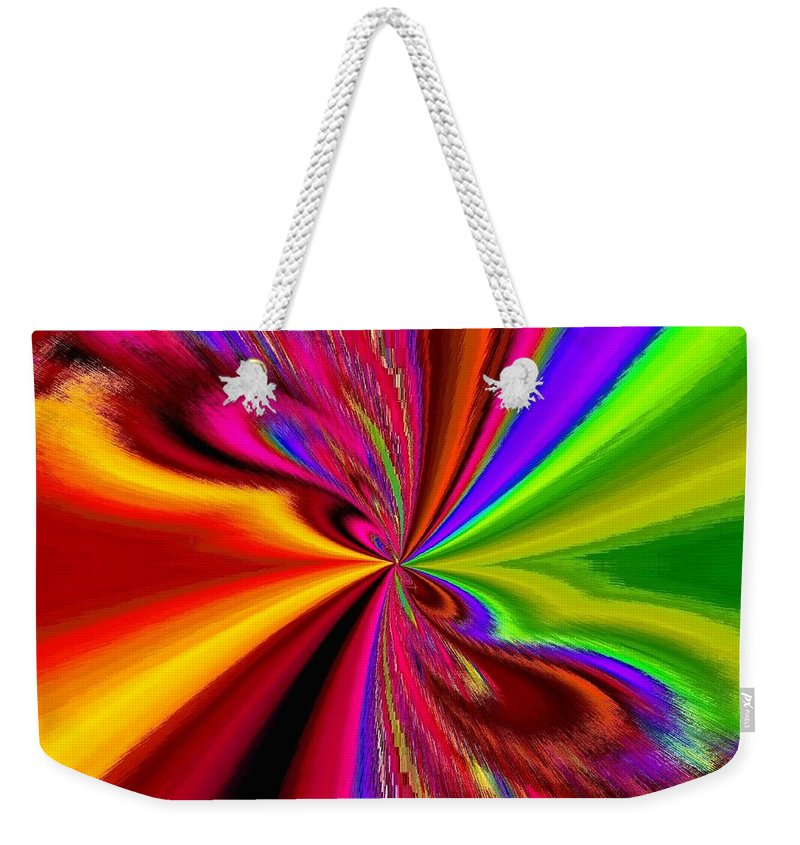 Abstract Weekender Tote Bag featuring the digital art Pizzazz 1 by Will Borden