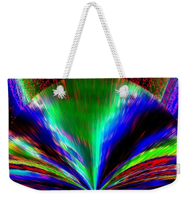 Abstract Weekender Tote Bag featuring the digital art Pizzazz 10 by Will Borden