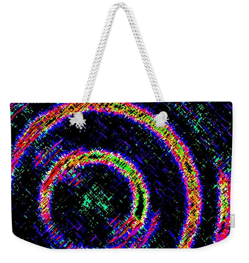 Abstract Weekender Tote Bag featuring the digital art Pizzazz 2 by Will Borden