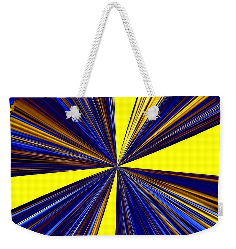 Abstract Weekender Tote Bag featuring the digital art Pizzazz 20 by Will Borden