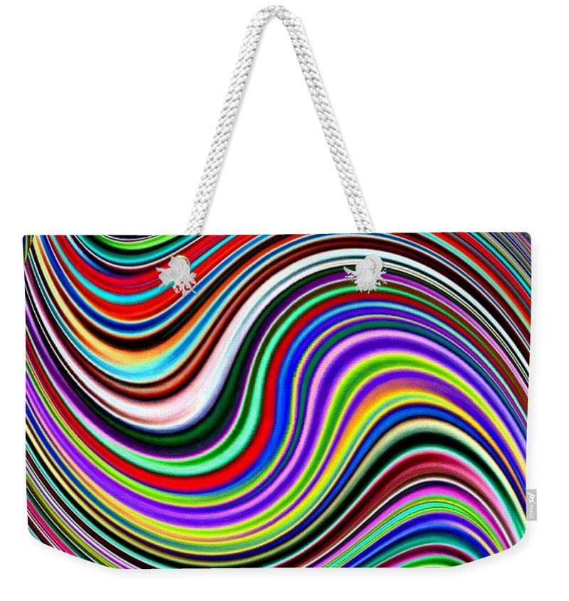 Abstract Weekender Tote Bag featuring the digital art Pizzazz 29 by Will Borden