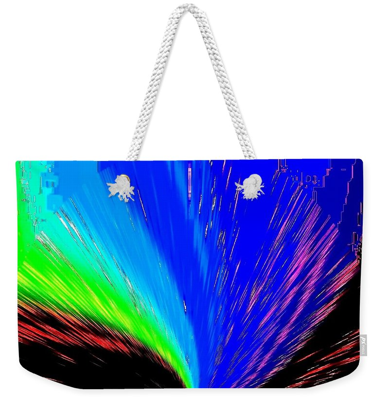 Abstract Weekender Tote Bag featuring the digital art Pizzazz 3 by Will Borden
