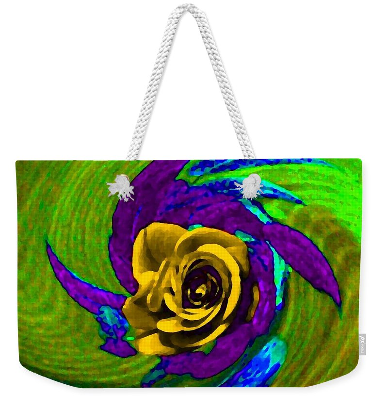 Abstract Weekender Tote Bag featuring the digital art Pizzazz 4 by Will Borden