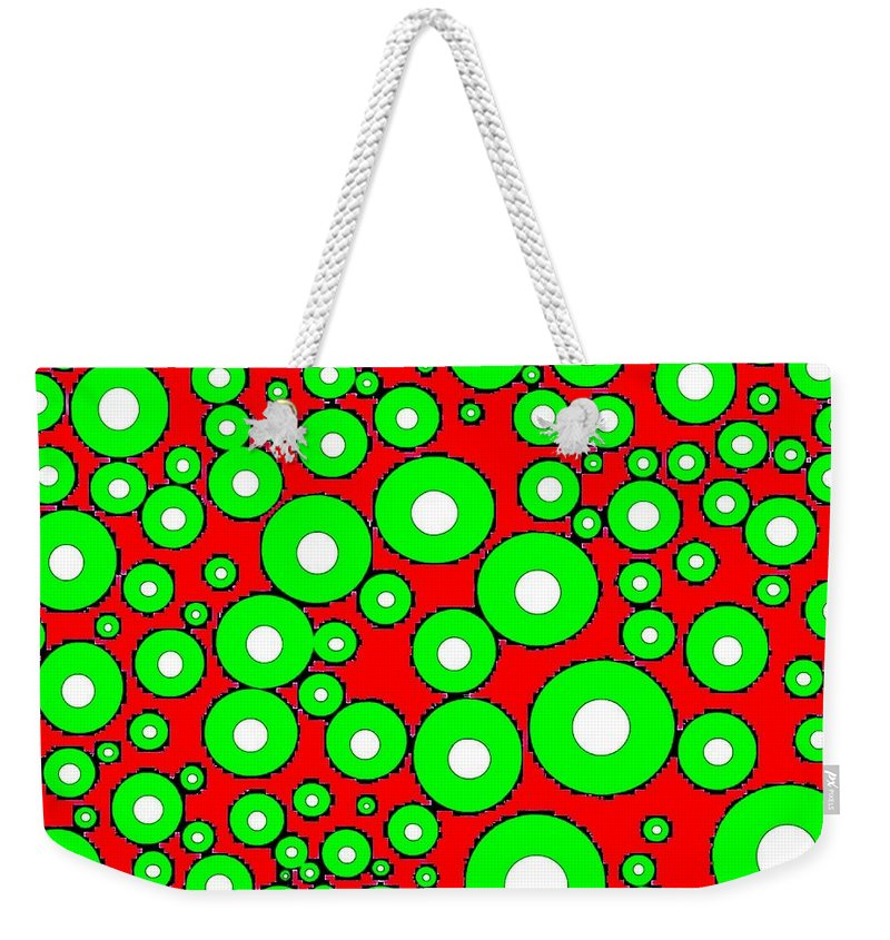 Abstract Weekender Tote Bag featuring the digital art Pizzazz 5 by Will Borden