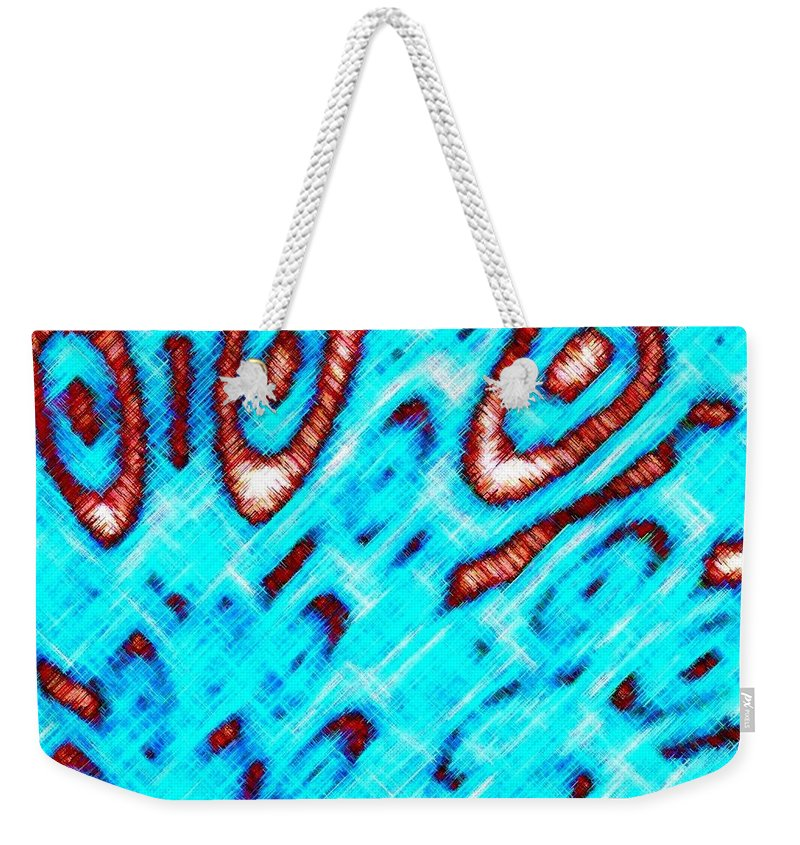 Abstract Weekender Tote Bag featuring the digital art Pizzazz 6 by Will Borden