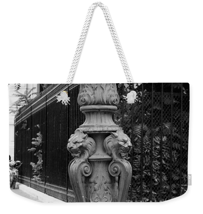 Place Charles De Gaulle Weekender Tote Bag featuring the photograph Place Charles De Gaulle - Black And White by Carol Groenen