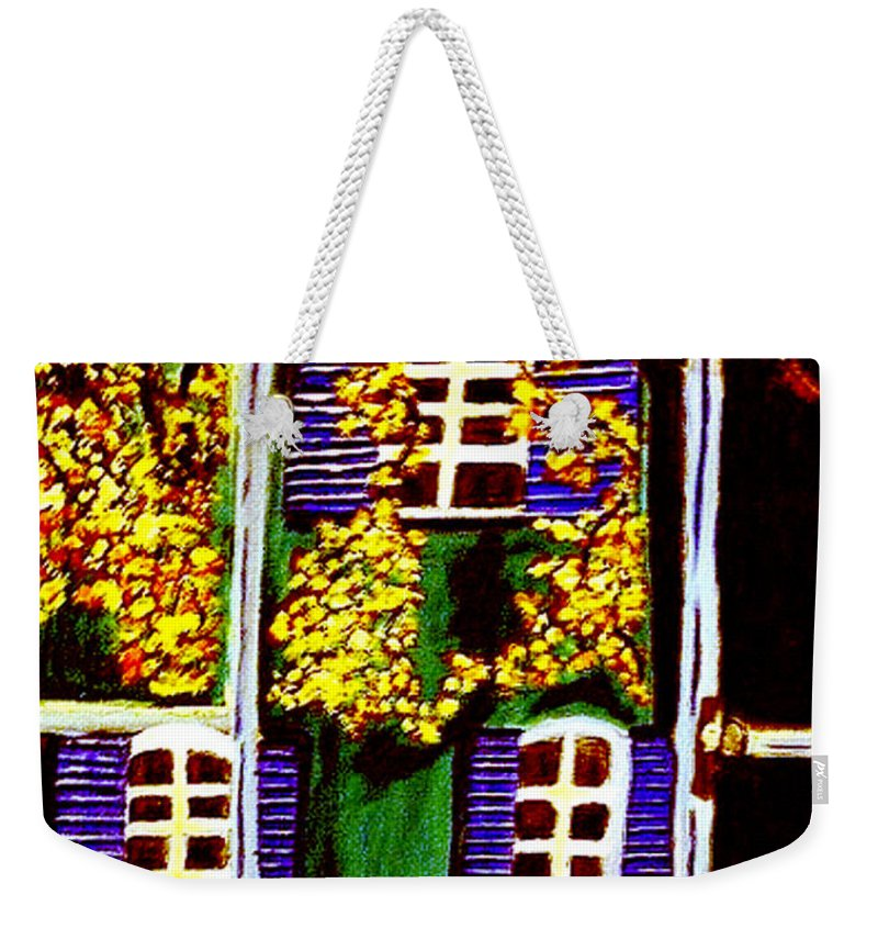 Paris Weekender Tote Bag featuring the painting Place De La Paix by Rusty Gladdish