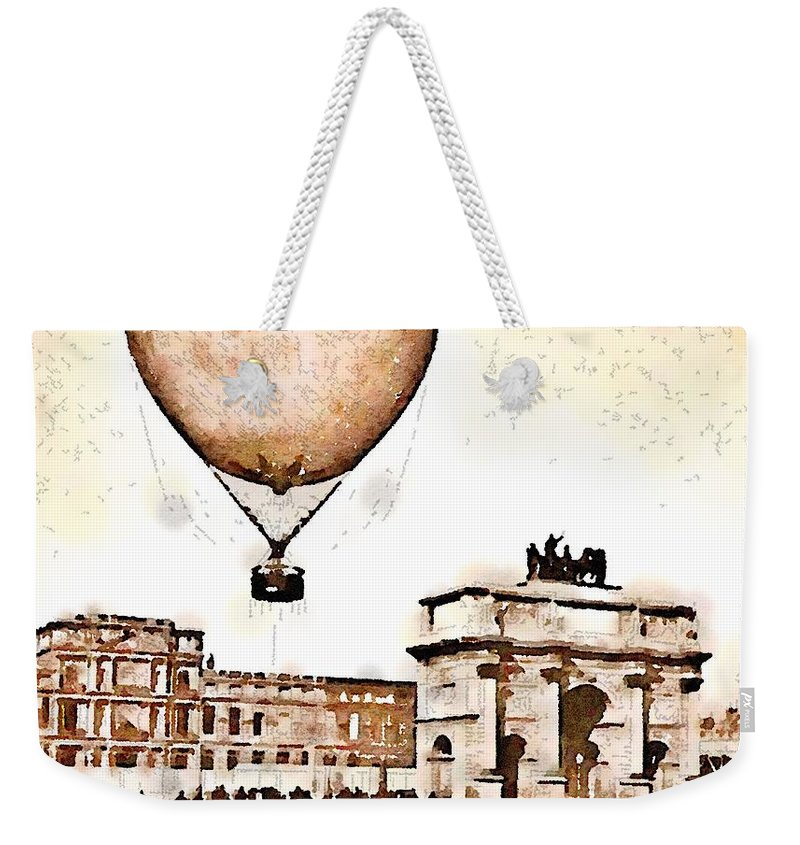 Paris Weekender Tote Bag featuring the painting Place Du Carrousel 1878 by Helge
