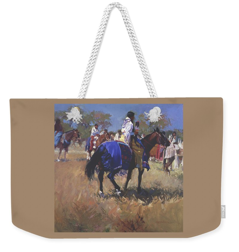 Horses Weekender Tote Bag featuring the digital art Place Of The Sun L. E. P. by Betty Jean Billups