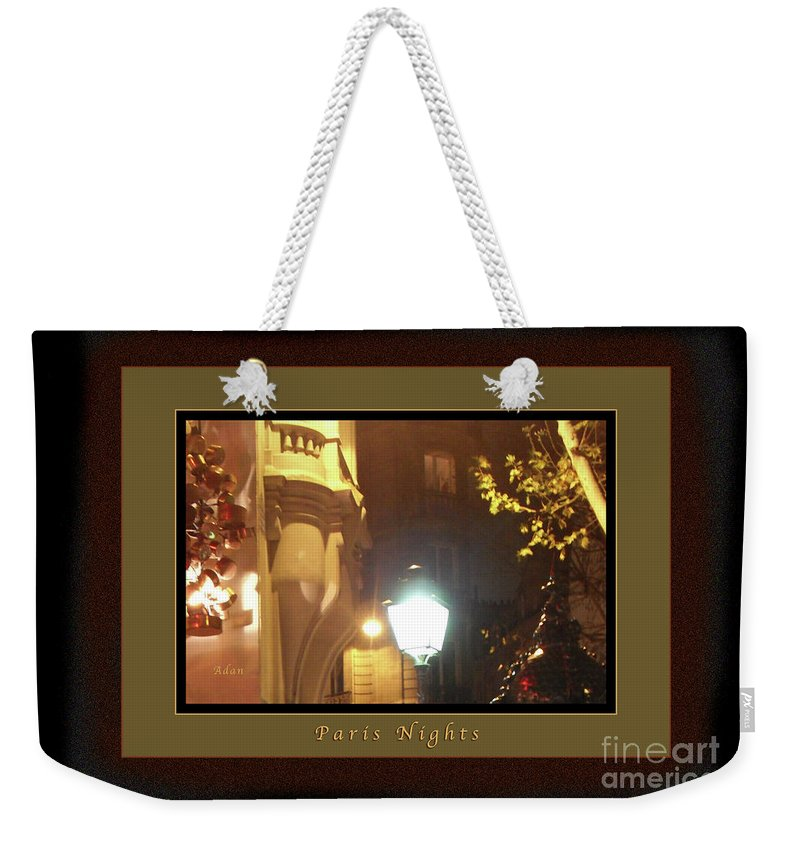Paris Weekender Tote Bag featuring the photograph Place St Michel To Rue Saint-andre Des Arts Greeting Card And Poster by Felipe Adan Lerma