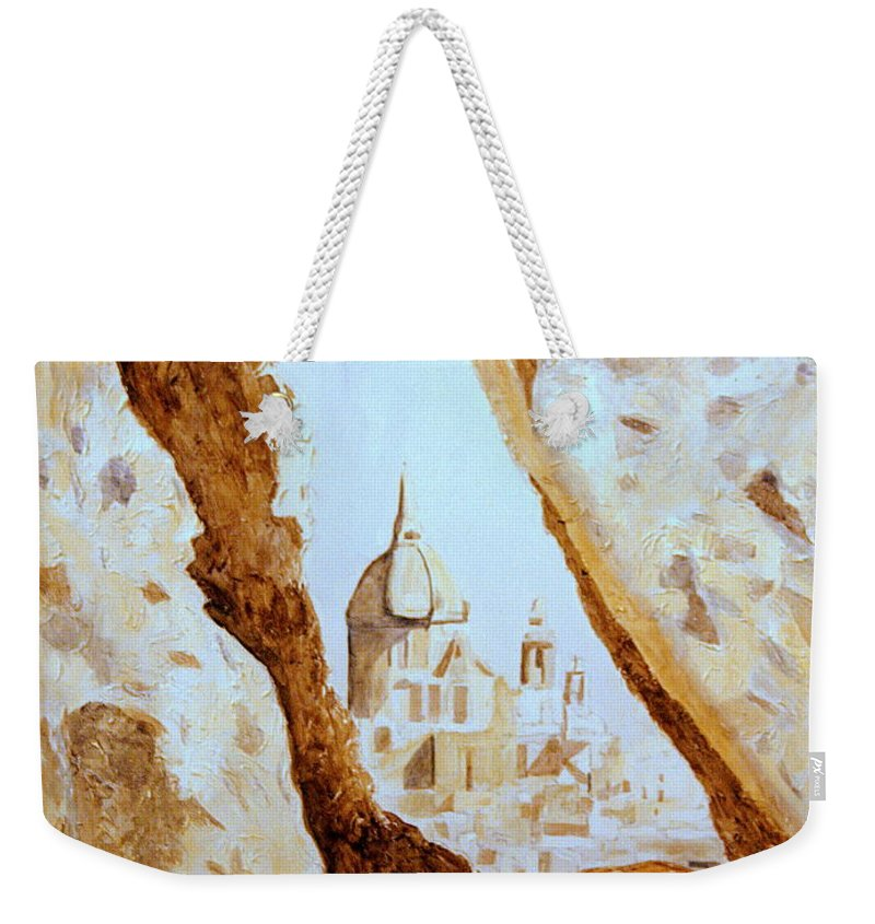 Gozo Weekender Tote Bag featuring the painting Places Of Worship by Shirley Wilberforce