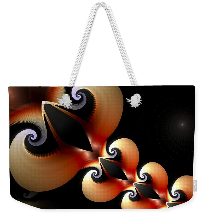 Love Weekender Tote Bag featuring the digital art Plaited Love by Amorina Ashton