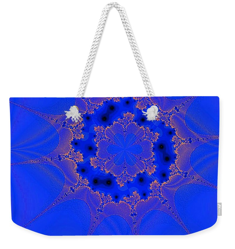 Abstract Weekender Tote Bag featuring the digital art Plankton 3 by Dragica Micki Fortuna