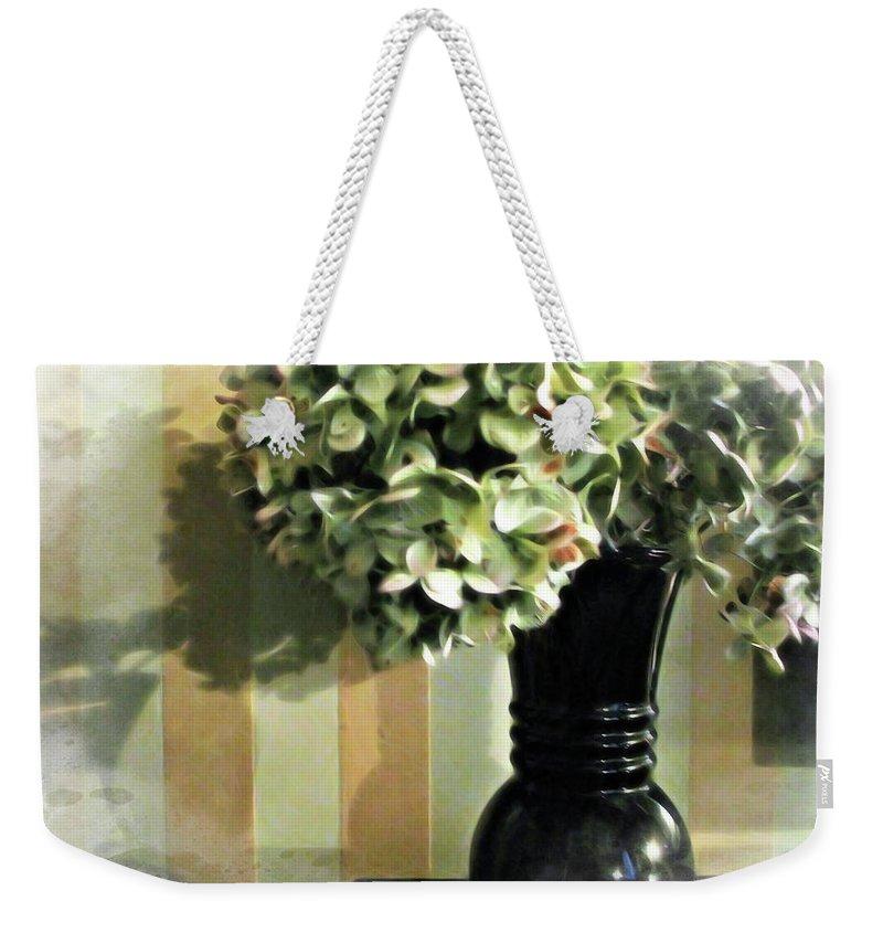 Plantation Weekender Tote Bag featuring the digital art Plantation Arrangement by Joan Minchak