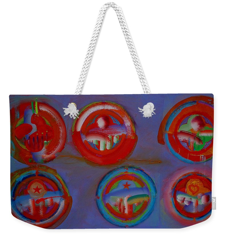 Logo Weekender Tote Bag featuring the painting Plate State by Charles Stuart