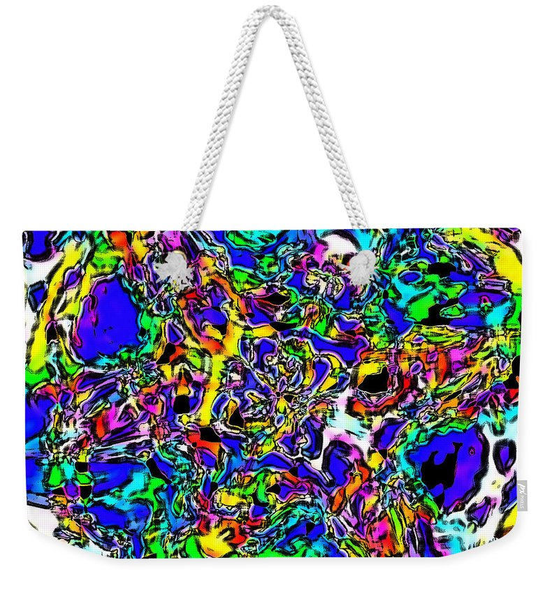 Weekender Tote Bag featuring the digital art Playdoh Confetti by Blind Ape Art