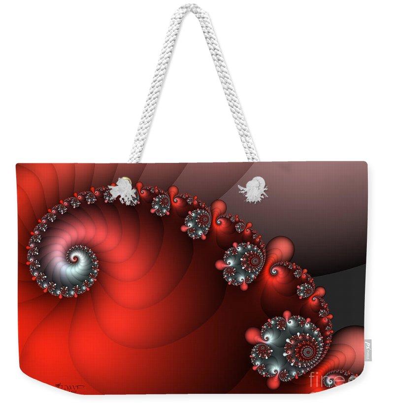 Fractal Weekender Tote Bag featuring the digital art Playground by Jutta Maria Pusl