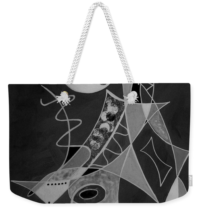 Abstract Weekender Tote Bag featuring the painting Playing Go Fish by Ruth Palmer