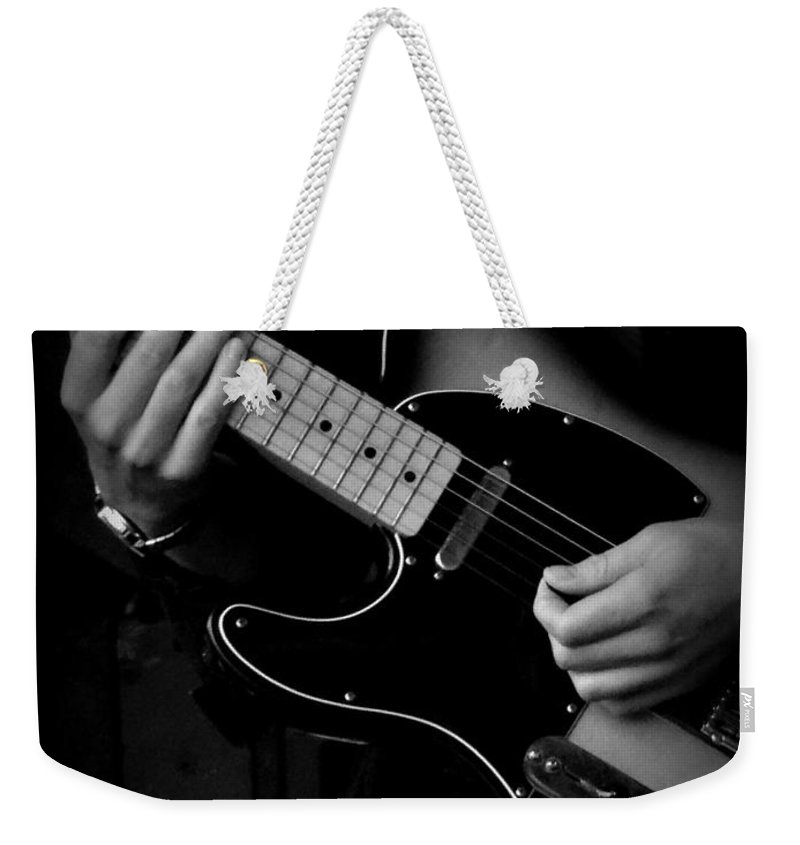 Original Photograph Weekender Tote Bag featuring the photograph Playing Strings by Nicola Graham